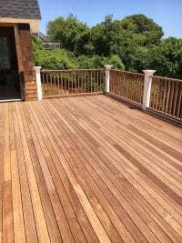 Deck In New Home Addition In Amagansett NY