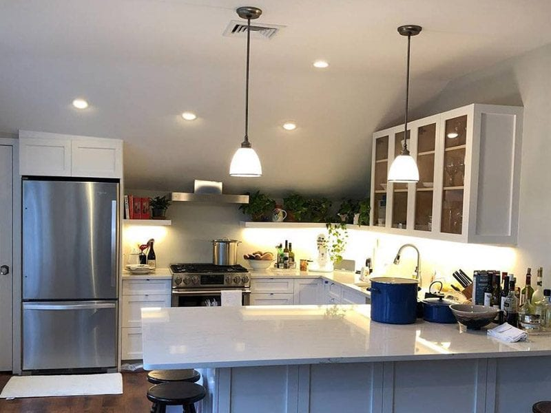 After picture of a newly renovated kitchen in the hamptons looking amazing
